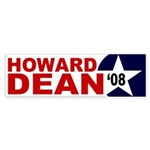 Howard Dean '08 star bumper sticker