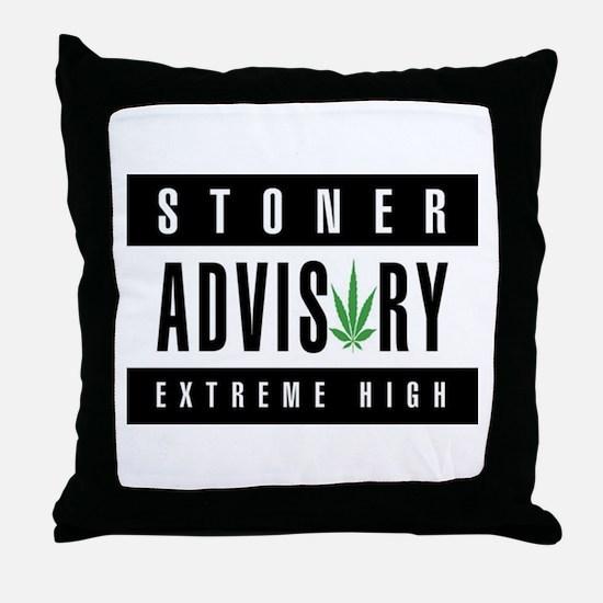 Stoner Advisory Throw Pillow