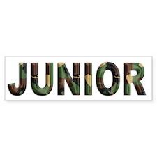 Camouflage Junior Bumper Bumper Sticker
