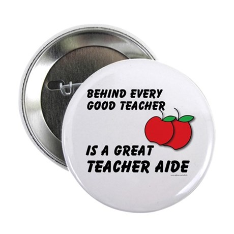 "Great Teacher Aide 2.25"" Button (10 pack)"
