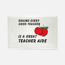 Great Teacher Aide Rectangle Magnet