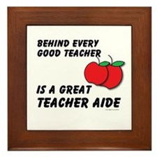 Great Teacher Aide Framed Tile