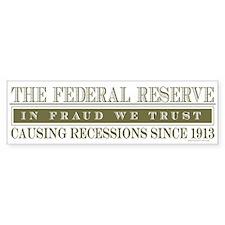 Anti Federal Reserve Bumper Bumper Sticker