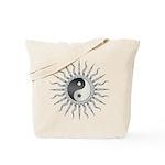 Black Starburst Yin Yang Tote Bag