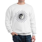 Black Starburst Yin Yang Sweatshirt