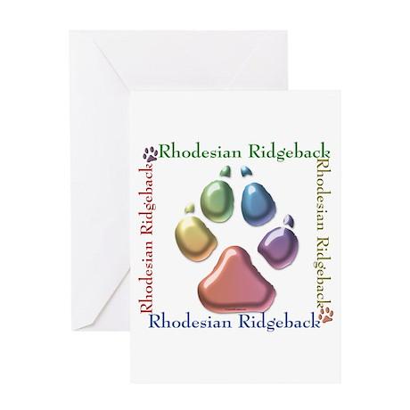 Ridgeback Name2 Greeting Card