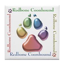 Redbone Name2 Tile Coaster