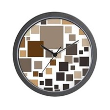 Toffee Tiles Wall Clock