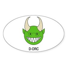 D-ORC Oval Decal