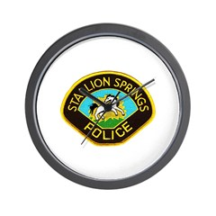 Stallion Springs Police Wall Clock