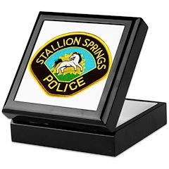 Stallion Springs Police Keepsake Box