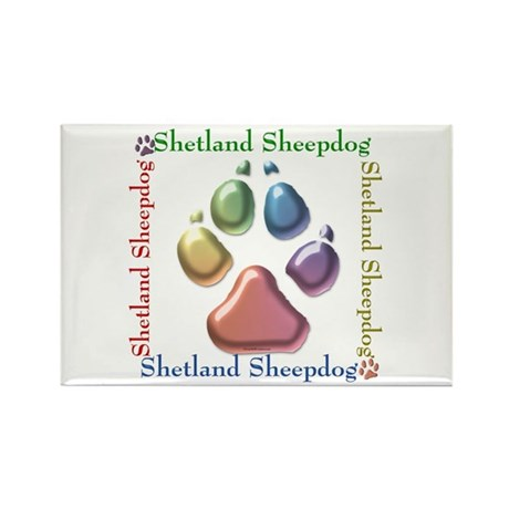 Sheltie Name2 Rectangle Magnet (10 pack)