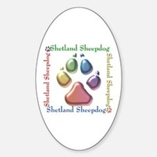 Sheltie Name2 Oval Decal