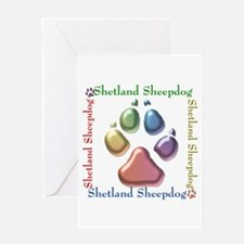 Sheltie Name2 Greeting Card