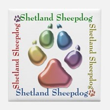 Sheltie Name2 Tile Coaster