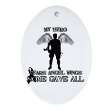 Cute Honor the fallen Oval Ornament
