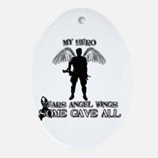 Cute Always my hero Oval Ornament