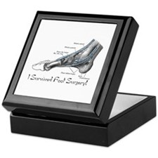 I Survived Foot Surgery! Keepsake Box