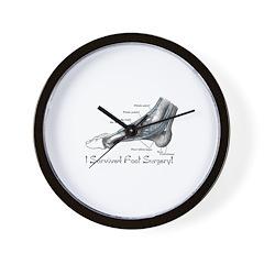 I Survived Foot Surgery! Wall Clock