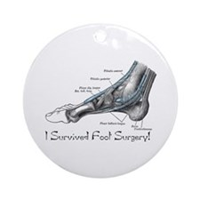 I Survived Foot Surgery! Ornament (Round)