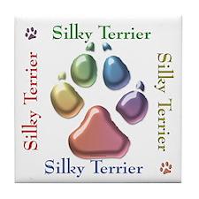 Silky Name2 Tile Coaster