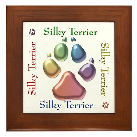 Silky Name2 Framed Tile