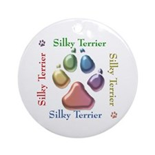 Silky Name2 Ornament (Round)