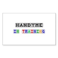 Handyme In Training Rectangle Decal