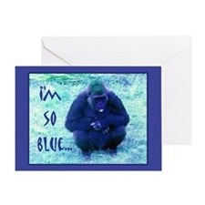 I'M SO BLUE WITHOUT YOU Greeting Card