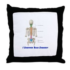 I Survived Back Surgery! Throw Pillow