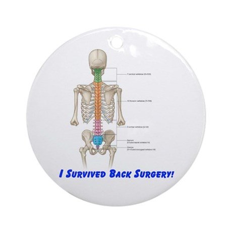 I Survived Back Surgery! Ornament (Round)