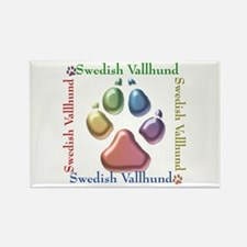 Vallhund Name2 Rectangle Magnet