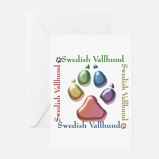 Vallhund Name2 Greeting Card