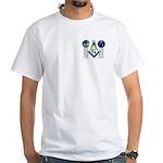 Masonic Columns (color) White T-Shirt