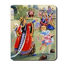 ALICE PLAYS THE QUEEN'S CROQUET Mousepad
