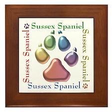 Sussex Name2 Framed Tile