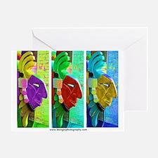 Three Aztecs Greeting Card