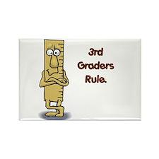 3rd Graders Rule Rectangle Magnet