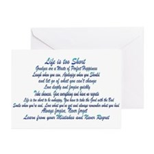 Life is too Short Greeting Cards (Pk of 10)