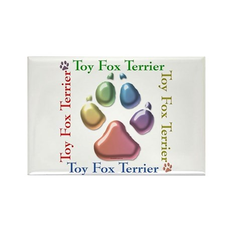 Toy Fox Name2 Rectangle Magnet