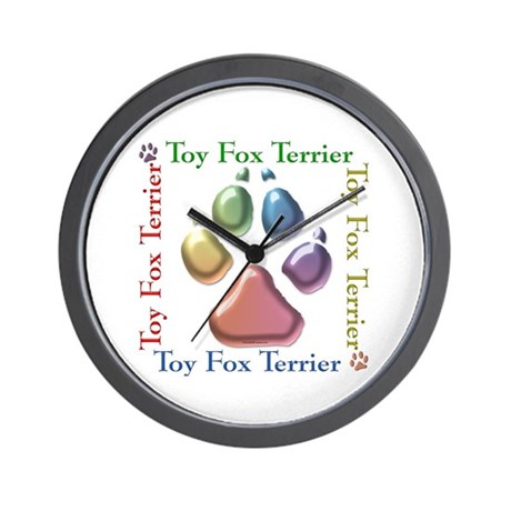 Toy Fox Name2 Wall Clock