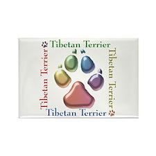 Tibetan Terrier Name2 Rectangle Magnet