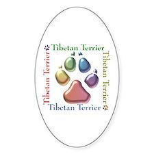 Tibetan Terrier Name2 Oval Decal