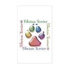 Tibetan Terrier Name2 Rectangle Decal