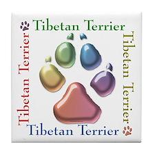 Tibetan Terrier Name2 Tile Coaster