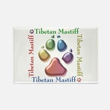 Tibetan Mastiff Name2 Rectangle Magnet