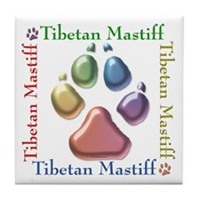 Tibetan Mastiff Name2 Tile Coaster