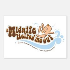 A Midwife Helped Me Out Postcards (Package of 8)