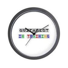Guitarist In Training Wall Clock