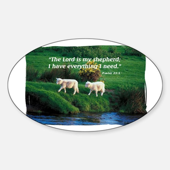 The LORD is my Shepherd Oval Decal